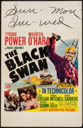 "Movie Posters:Adventure, The Black Swan (20th Century Fox, 1942). Window Card (14"" X 22"").Adventure.. ..."