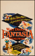 "Movie Posters:Animation, Fantasia (Buena Vista, R-1956). Window Card (14"" X 22"").Animation.. ..."
