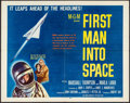 """Movie Posters:Science Fiction, First Man into Space (MGM, 1959). Half Sheet (22"""" X 28"""") Style A. Science Fiction.. ..."""