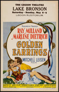 """Movie Posters:Romance, Golden Earrings (Paramount, 1947). Window Card (14"""" X 22"""") & Uncut Pressbook (20 Pages, 12.25"""" X 15""""). Romance.. ... (Total: 2 Items)"""