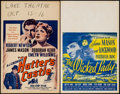 "Movie Posters:Drama, Hatter's Castle & Other Lot (Paramount, 1948). Window Cards (2)(14"" X 22""). Drama.. ... (Total: 2 Items)"