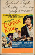 "Movie Posters:Action, Captain Kidd (United Artists, 1945). Window Card (14"" X 22"").Action.. ..."