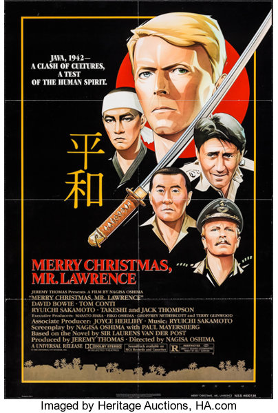 movie posterswar merry christmas mr lawrence universal 1983 - Ryuichi Sakamoto Merry Christmas Mr Lawrence