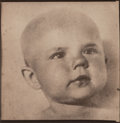 Photographs, Andrey Chezhin (Russian, b. 1960). Baby's Face, 2000. Platinum. 10 x 10 inches (25.4 x 25.4 cm). Signed and dated in ink...