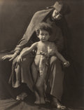 Photographs, František Drtikol (Czech, 1883-1961). Ervina and Child, circa 1920. Gelatin silver. 10-3/4 x 8-1/4 inches (27.2 x 21 cm)...