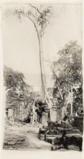 Photographs, Jean Pagliuso (American, 20th Century). Ta Prohm, 1997. Gelatin silver print on two sheets of Kaji paper. 32 x 17 inches...
