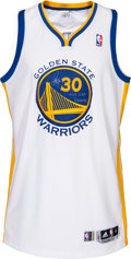 Basketball Collectibles:Uniforms, 2013 Stephen Curry Western Conference Semifinals Game Worn GoldenState Warriors Jersey....
