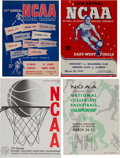 Basketball Collectibles:Others, 1949, 1952, 1961 & 1965 NCAA Basketball Final Four ChampionshipPrograms Lot of 4....