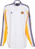 Basketball Collectibles:Uniforms, 2009 Kobe Bryant Game Worn Los Angeles Lakers Finals WarmupJersey....
