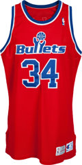 Basketball Collectibles:Uniforms, 1993-94 Don MacLean Game Worn Washington Bullets Jersey.. ...