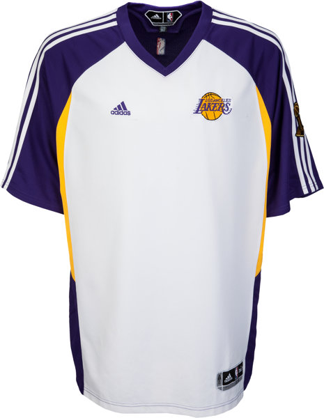 save off 95405 ea956 2009 Kobe Bryant Game Worn NBA Finals Shooting Shirt with ...