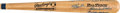 Baseball Collectibles:Bats, 1990 Mickey Mantle's Personal 500 Home Run Club Signed Bat with Family Letter. . ...
