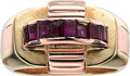 Estate Jewelry:Rings, Retro Ruby, Gold Ring, Cartier . ...