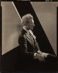 Photographs, Edward Steichen (American, 1879-1973). Leopold Stokowski, for Vanity Fair, 1928. Gelatin silver contact print. 9-1/2 x 7...