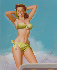 K.O. (Knute) Munson (American, 20th Century) Ship Shape, calendar illustration, circa 1940s-50s Past