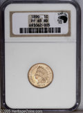 Proof Indian Cents: , 1890 1C PR65 Red NGC. Eagle Eye Photo Seal, without card. A brightly mirrored specimen with attractive coppery-gold patina ...