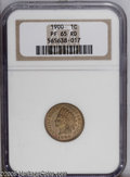 Proof Indian Cents: , 1900 1C PR65 Red NGC. Frosty and bright for this date, with well preserved surfaces that are free of specks save for a minu...