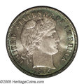 Barber Dimes: , 1905-O 10C MS67 PCGS. This is the cataloger's choice for theprettiest Barber Dime in this collection. Both sides are virtu...