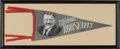 Political:Textile Display (1896-present), Theodore Roosevelt: Unusual Portrait Pennant....