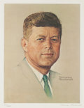 Political:Posters & Broadsides (pre-1896), . John F. Kennedy: Limited Edition Signed Norman Rockwell Print....