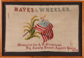 Political:Textile Display (pre-1896), Rutherford B. Hayes: Cross-Stitch Needlework Panel....