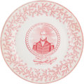 Political:3D & Other Display (pre-1896), William Henry Harrison: Portrait Plate by James Tams....