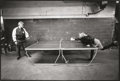 Photographs, P.F. Bentley (American, 20th Century). Bill and Hillary Clinton playing ping pong, 1993. Gelatin silver. 6 x 8-7/8 inche...