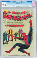 Silver Age (1956-1969):Superhero, The Amazing Spider-Man #10 (Marvel, 1964) CGC NM/MT 9.8 White pages....