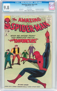 The Amazing Spider-Man #10 (Marvel, 1964) CGC NM/MT 9.8 White pages