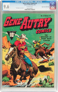 Golden Age (1938-1955):Western, Gene Autry Comics #5 Mile High Pedigree (Fawcett Publications,1943) CGC NM+ 9.6 Off-white pages....