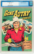 Golden Age (1938-1955):Western, Gene Autry Comics #9 Mile High Pedigree (Fawcett Publications,1943) CGC NM+ 9.6 Off-white to white pages....