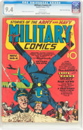 Golden Age (1938-1955):War, Military Comics #4 Mile High Pedigree (Quality, 1941) CGC NM 9.4White pages....