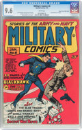 Golden Age (1938-1955):War, Military Comics #6 Mile High Pedigree (Quality, 1942) CGC NM+ 9.6 White pages....