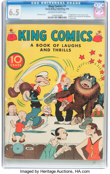 King Comics #1 (David McKay Publications, 1936) CGC FN+ 6.5 Off-white to white pages....