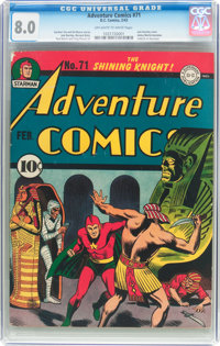 Adventure Comics #71 (DC, 1942) CGC VF 8.0 Off-white to white pages
