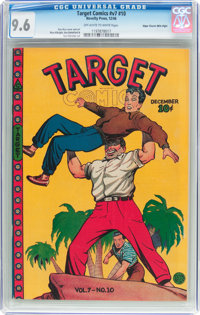 Target Comics V7#10 Mile High Pedigree (Novelty Press, 1946) CGC NM+ 9.6 Off-white to white pages