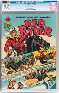 Red Ryder Comics #1 (Dell, 1940) CGC VF/NM 9.0 Off-white to white pages
