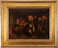 George Washington: Painting of Meeting at Fraunces Tavern