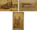 Photography:Cabinet Photos, Pine Ridge Agency: Three Oversized Mounted Albumen Photos....(Total: 3 Items)