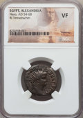 Ancients:Roman Provincial , Ancients: EGYPT. Alexandria. Nero (AD 54-68). BI tetradrachm. NGCVF....