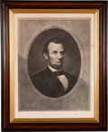 Political:Posters & Broadsides (pre-1896), Abraham Lincoln: Large Henry Gugler Engraving....