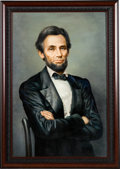 Political:3D & Other Display (pre-1896), Abraham Lincoln: Large Unsigned Painting....