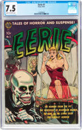 Golden Age (1938-1955):Horror, Eerie #1 (Avon, 1951) CGC VF- 7.5 Cream to off-white pages....