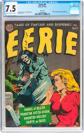 Golden Age (1938-1955):Horror, Eerie #9 River City Pedigree (Avon, 1952) CGC VF- 7.5 Cream tooff-white pages....