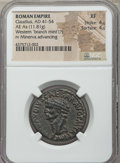 Ancients:Roman Imperial, Ancients: Claudius (AD 41-54). CU as (11.81 gm).NGC XF 4/5 -4/5....