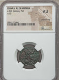 Ancients:Roman Provincial , Ancients: TROAS. Alexandria. Ca. 3rd century AD. AE 21 mm. NGC AU,smoothing....