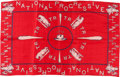 Political:Textile Display (1896-present), Theodore Roosevelt: Silk Bull Moose Bandana....