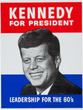Political:Posters & Broadsides (1896-present), John F. Kennedy: Plastic Poster....