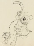 Animation Art:Production Drawing, Mickey's Nightmare Baby Mouse Animation Drawing (WaltDisney, 1932). ...