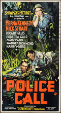 "Movie Posters:Crime, Police Call (Showmens Pictures, 1933). Three Sheet (41"" X 76.75"").Crime.. ..."
